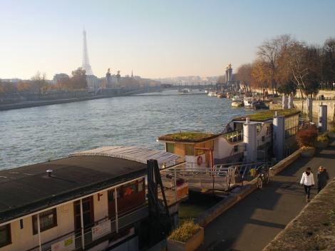 Parigi - La Senna in un pomeriggio di dicembre