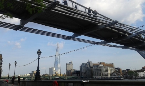 the shard- millennium bridge